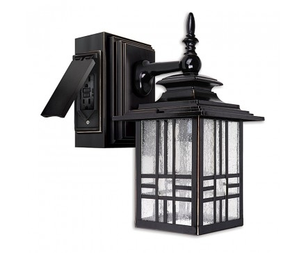 Outdoor – Lighting Fixtures – Lighting | L'image Home Products Within Outdoor Wall Lights With Electrical Outlet (View 2 of 10)