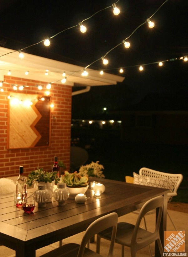 10 collection of hanging outdoor string lights at home depot mozeypictures Choice Image