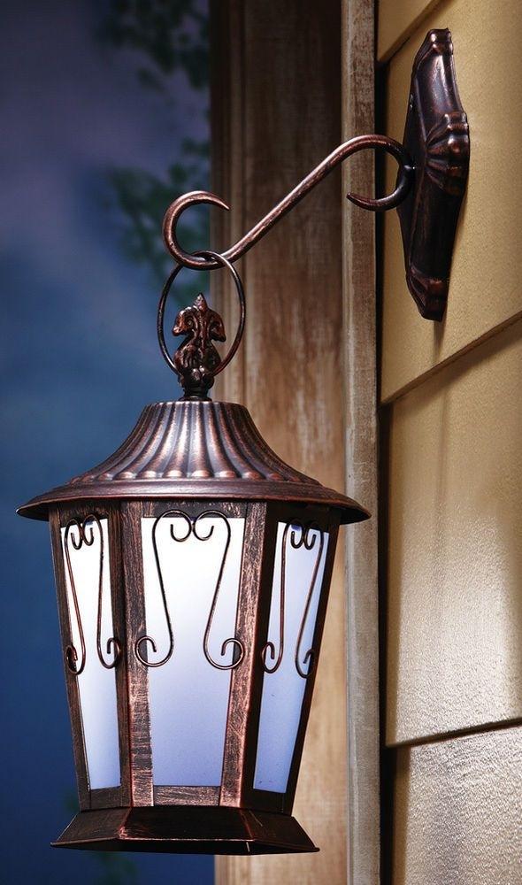 Outdoor Lighting: Inspiring Solar Porch Light Solar Powered Wall Within Solar Powered Outdoor Hanging Lanterns (View 7 of 10)
