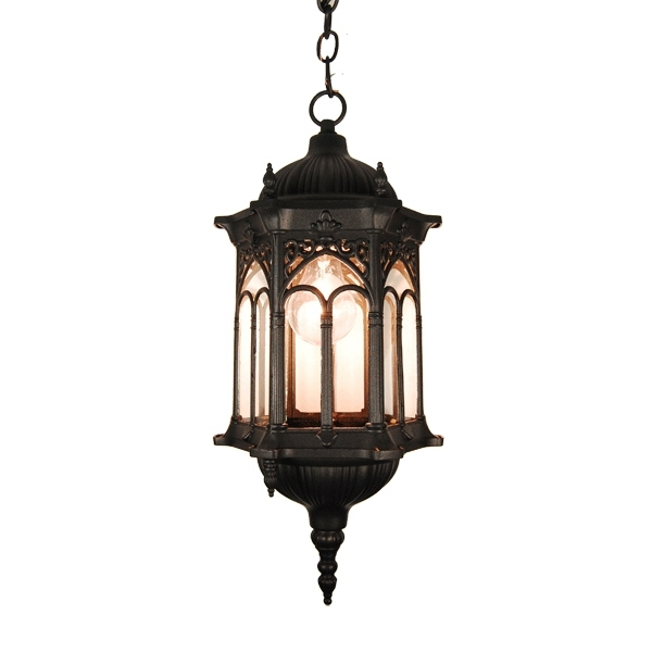 Outdoor Lighting: Outstanding Electric Lantern Light Fixtures throughout Electric Outdoor Hanging Lanterns (Image 8 of 10)