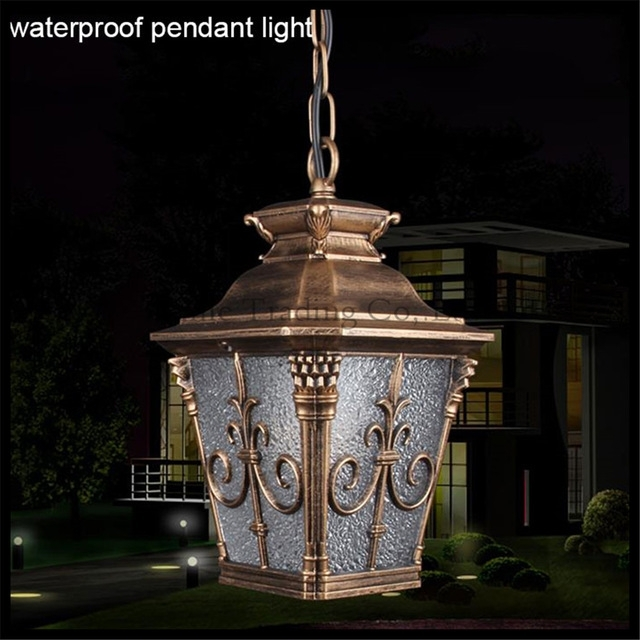 Outdoor Retro Waterproof Chain Pendant Light Outdoor Garden Lawn in Outdoor Waterproof Hanging Lights (Image 6 of 10)