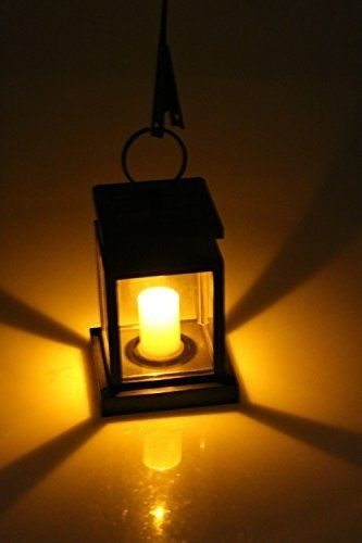 Outdoor Solar Lantern Hanging Light Led Candle Yard Patio Garden pertaining to Outdoor Hanging Lights at Ebay (Image 6 of 10)