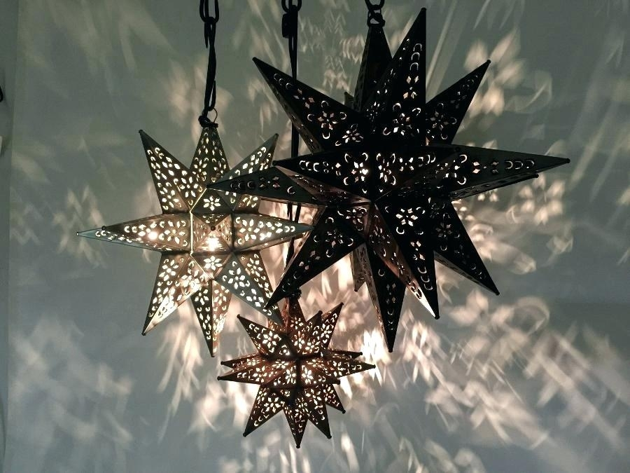 Outdoor Star Pendant Light S Outdoor Hanging Star Lanterns within Outdoor Hanging Star Lanterns (Image 8 of 10)
