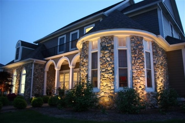 Outdoor Stone Wall Lighting - Traditional - Exterior - Indianapolis with Outdoor Stone Wall Lighting (Image 5 of 10)