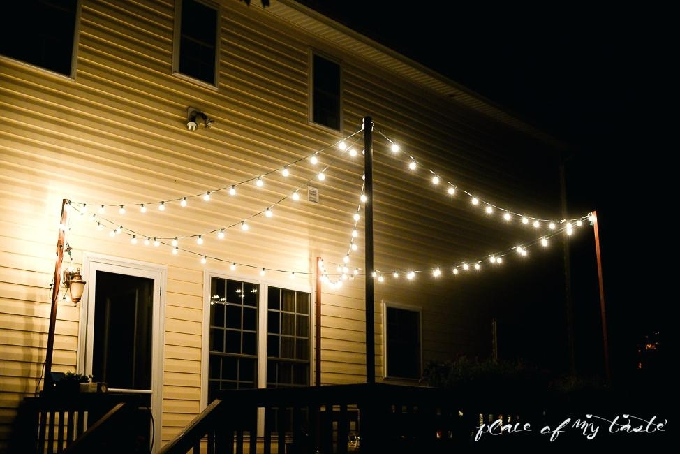 Outdoor Strand Lighting Learn How To Hang String Lights On Your Deck with Hanging Outdoor Lights on Deck (Image 10 of 10)