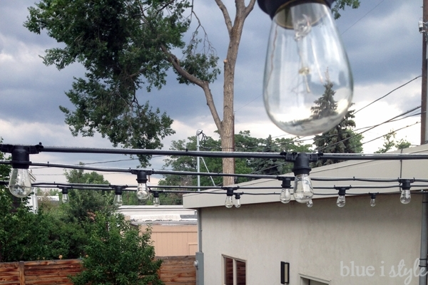 Outdoor Style} How To Hang Commercial Grade String Lights | Blue I with Hanging Outdoor Lights on Wire (Image 6 of 10)