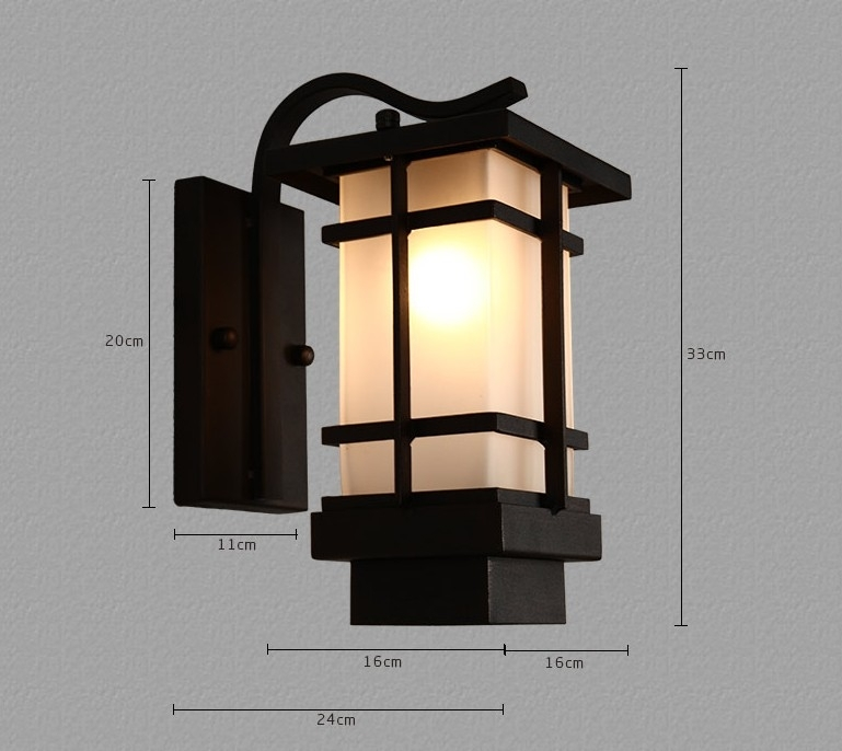 Outdoor Wall Lamps Retro Porch Light Art Deco Wall Lanterns Iron intended for Art Deco Outdoor Wall Lights (Image 8 of 10)