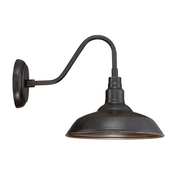 Outdoor Wall Light Lora Black Metal Exterior Light Over Sink/sides in Farmhouse Outdoor Wall Lighting (Image 6 of 10)