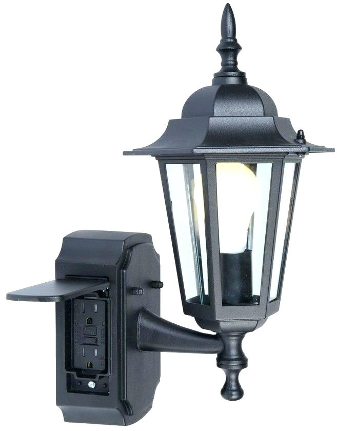 Outdoor Wall Light With Outlet Lighting Without Mount Electrical for Outdoor Wall Lights With Receptacle (Image 8 of 10)