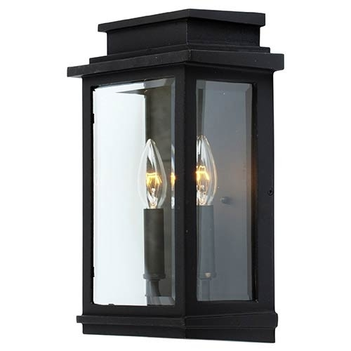 Outdoor Wall Lighting On Sale | Bellacor with Outdoor Wall Lights in Black (Image 6 of 10)