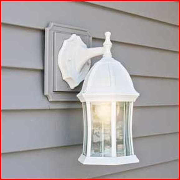 Outdoor Wall Sconce Mounting Block - Outdoor Designs in Vinyl Outdoor Wall Lighting (Image 8 of 10)