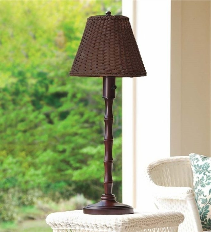 Outdoor Wicker Table Lamps Outdoor Floor Lamps Target Outdoor Wall For Target Outdoor Wall Lighting (Image 6 of 10)