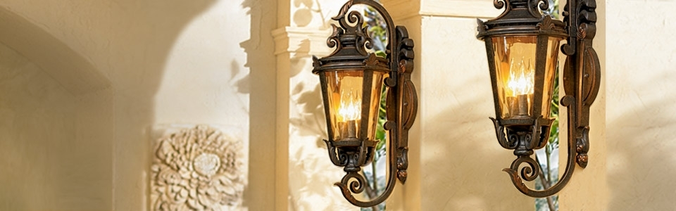 Outdoot Light Lamps Plus Outdoor Lighting Home Lighting Tuscan for Elegant Outdoor Wall Lighting (Image 9 of 10)