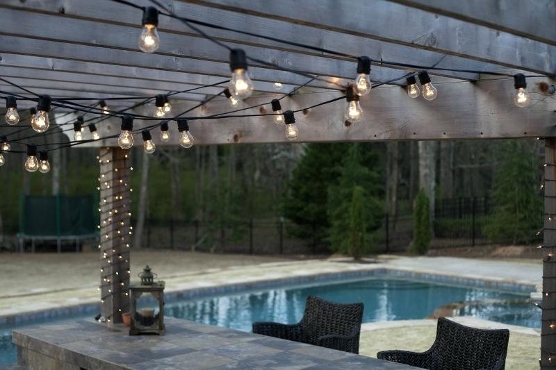 Outside String Hanging Lights Outdoor Bright Commercial For Wedding intended for Outdoor Hanging Pool Lights (Image 9 of 10)