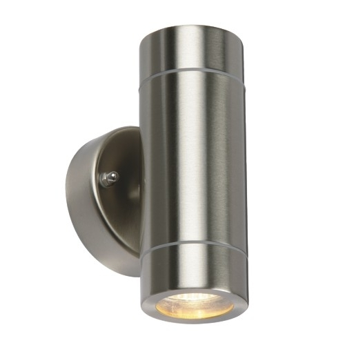 Palin Twin Outdoor Wall Light 13802 | The Lighting Superstore With Regard To Chrome Outdoor Wall Lighting (View 6 of 10)