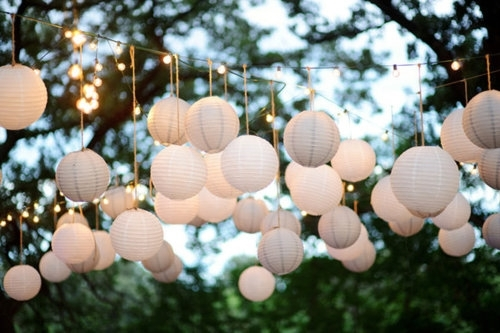 Paper Lanterns For Weddings | A Trusted Wedding Sourcedyal inside Outdoor Hanging Nylon Lanterns (Image 8 of 10)