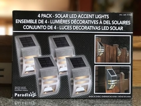 Paradise. 4 Pack - Solar Led Accent Lights. Fence Lighting From for Outdoor Hanging Lights at Costco (Image 9 of 10)