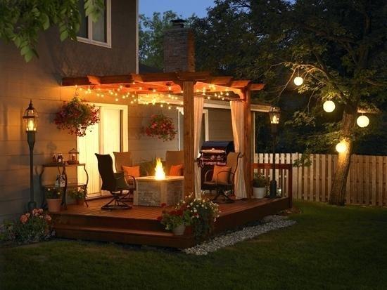 Patio ~ Patio Outdoor Lighting Outdoor Garden String Lights Patio with regard to Solar Hanging Outdoor Patio Lights (Image 9 of 10)