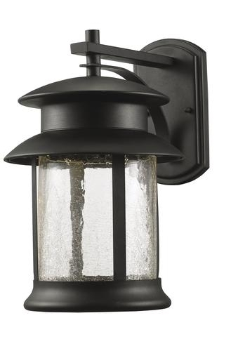 Patriot Lighting® Jalissa Medium Black Led Outdoor Wall Light At inside Outdoor Wall Lighting at Menards (Image 8 of 10)