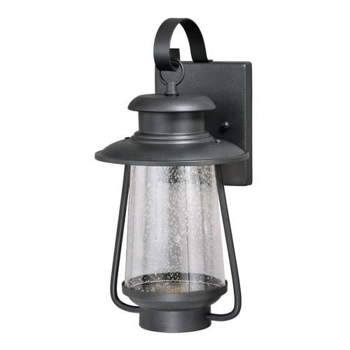 "Patriot Lighting® Kailani 13-3/4"" Vintage Black Led Outdoor Wall with Outdoor Wall Lighting At Menards (Image 9 of 10)"