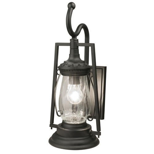 "Patriot Lighting® Keros 20-7/8"" Black 1-Light Coach Outdoor Wall pertaining to Outdoor Wall Lighting At Menards (Image 10 of 10)"