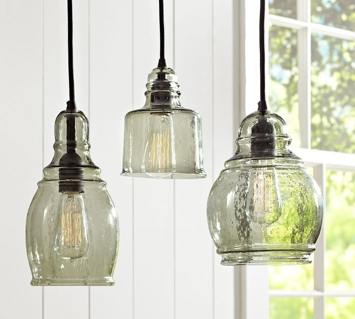 Paxton Glass Single Pendants | Pottery Barn in Outdoor Hanging Glass Lights (Image 7 of 10)