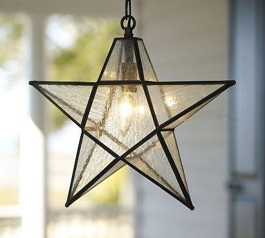 Pendant Lighting Ideas Awesome Star Light Fixture Glass Throughout throughout Outdoor Hanging Star Lights (Image 10 of 10)