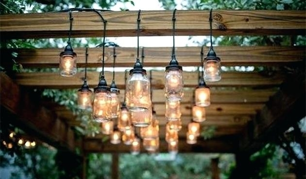 Pergola String Lights Pedestal Table Patio Transitional With Medium for Outdoor Hanging Lights For Pergola (Image 10 of 10)