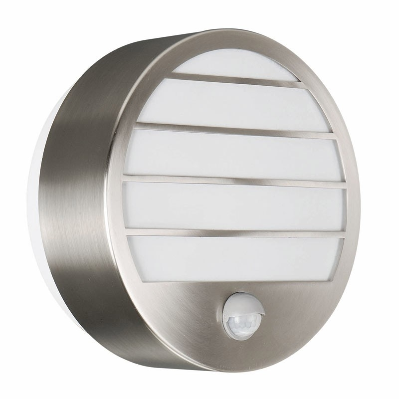 Philips Linz Stainless Steel Outdoor Wall Light With Pir Sensor regarding Outdoor Led Wall Lights With Pir (Image 7 of 10)