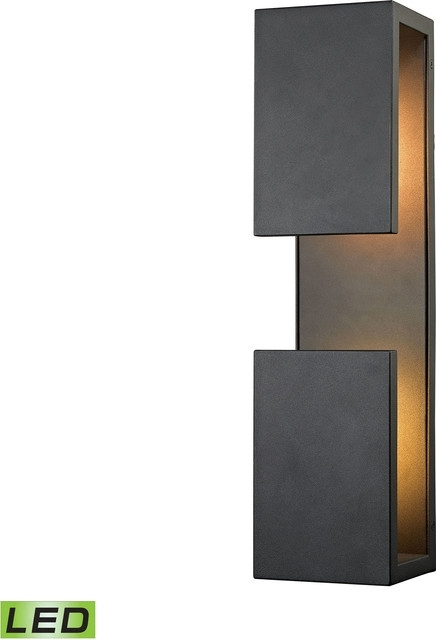 Pierre Led Outdoor Wall Sconce - Contemporary - Outdoor Wall Lights inside Black Contemporary Outdoor Wall Lighting (Image 10 of 10)