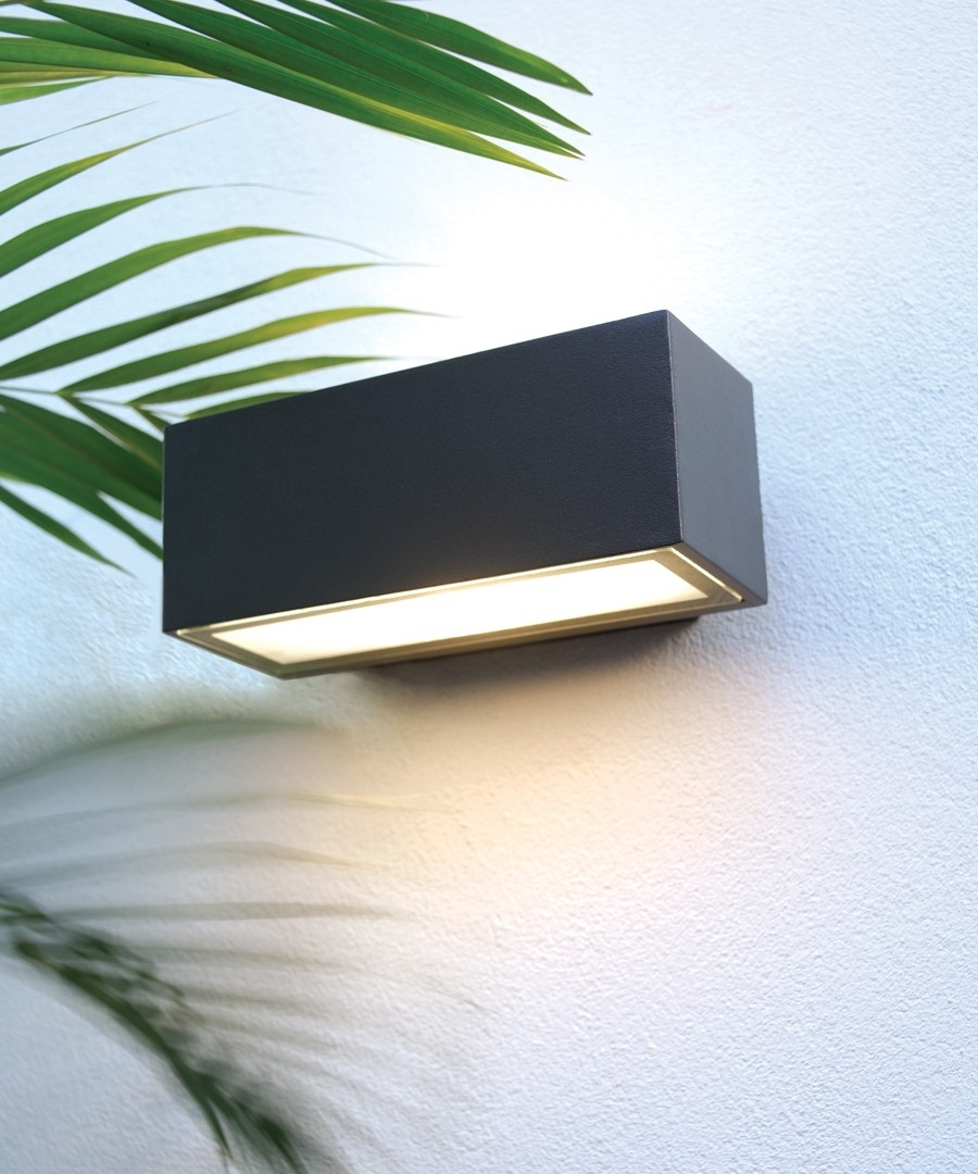 Pilot 1 Light Exterior Wall Bracket In Charcoal,lighting,beacon Lighting pertaining to Beacon Outdoor Wall Lighting (Image 7 of 10)