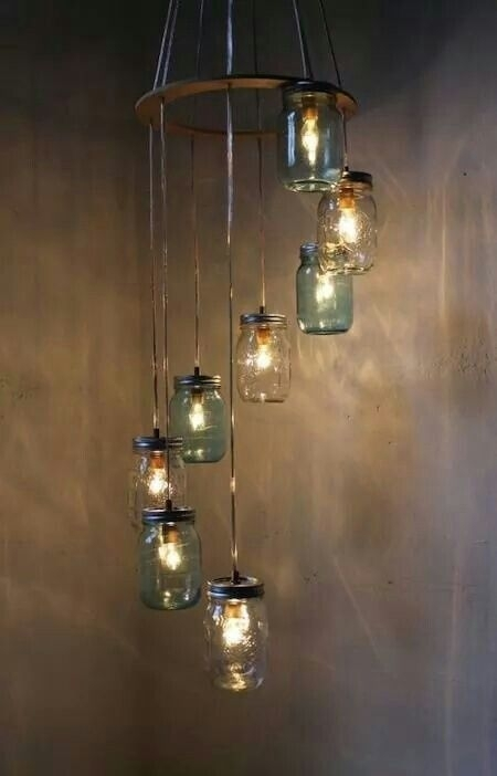 Pindian Gingery On Mason Jars | Pinterest | Living Room Ideas throughout Outdoor Hanging Mason Jar Lights (Image 10 of 10)