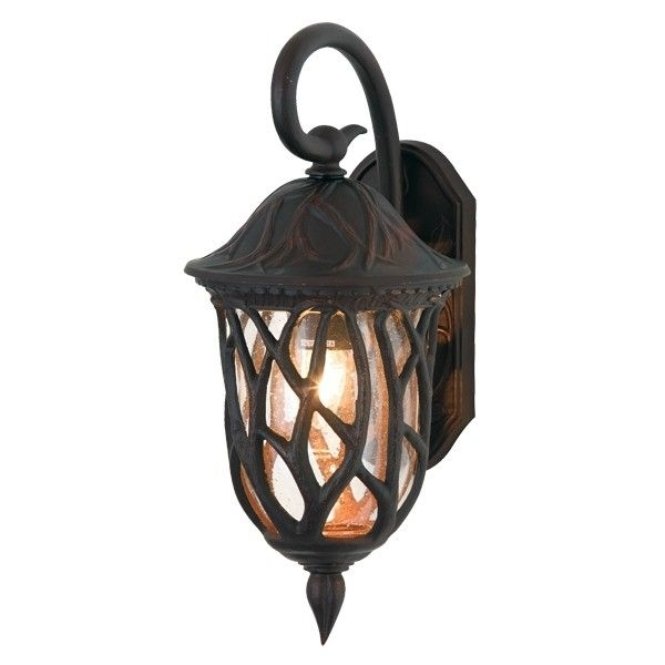 Pixie 1 Light Large Wall Bracket In Dark Bronze | Outdoor House Pertaining To Beacon Lighting Outdoor Wall Lights (Image 9 of 10)
