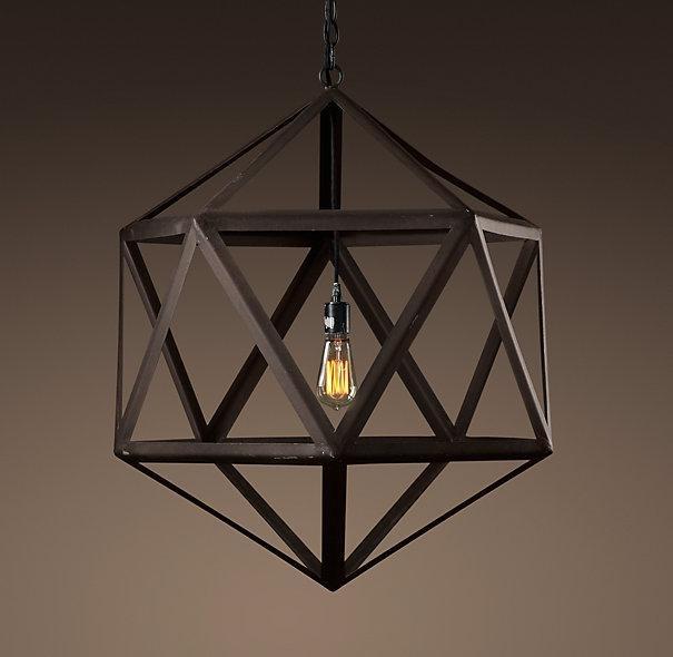 Polyhedron Medium Pendant - Outdoor Lighting - Restoration Hardware regarding Restoration Hardware Outdoor Hanging Lights (Image 4 of 10)