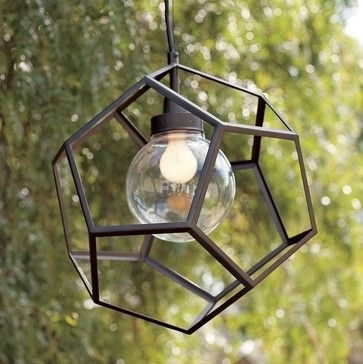 Polyhedron Pendant - Contemporary - Outdoor Lighting - West Elm with Modern Outdoor Hanging Lights (Image 10 of 10)
