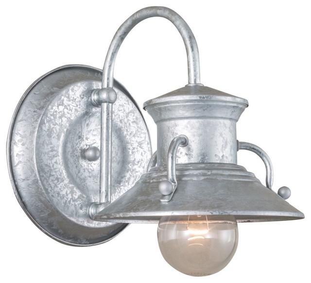 Popular Of Galvanized Wall Sconce Norwell Lighting Budapest Small intended for Small Outdoor Wall Lights (Image 9 of 10)