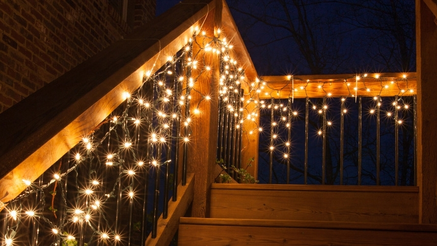 Porch Decorations regarding Outdoor Hanging Icicle Lights (Image 9 of 10)