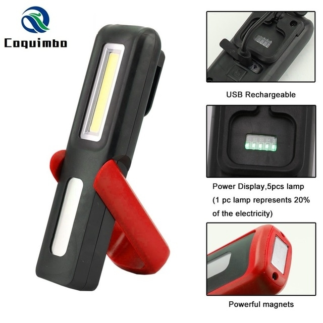 Portable Cob Led Flashlight Magnetic Work Light Usb Rechargeable throughout Outdoor Hanging Work Lights (Image 8 of 10)