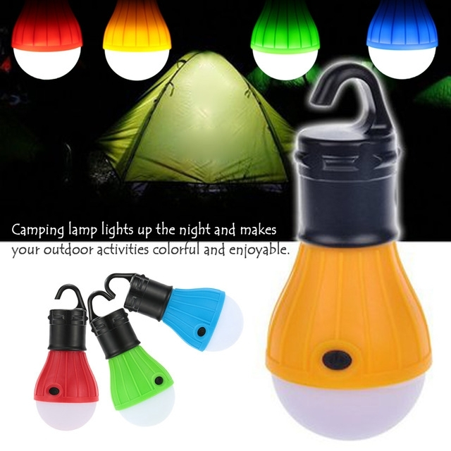 Portable Led Portable Camping Outdoor Hanging 3 Led Camping Lantern with Outdoor Hanging Camping Lights (Image 6 of 10)