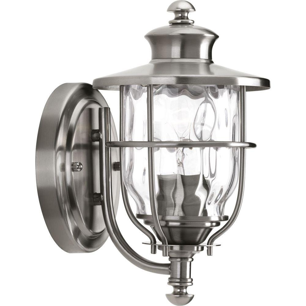 Progress Lighting Beacon Collection 1-Light 6 Inch Stainless Steel intended for Beacon Outdoor Wall Lighting (Image 8 of 10)