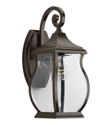 Progress P5692-108 Township 1 Light 15 Inch Oil Rubbed Bronze within Oil Rubbed Bronze Outdoor Wall Lights (Image 9 of 10)