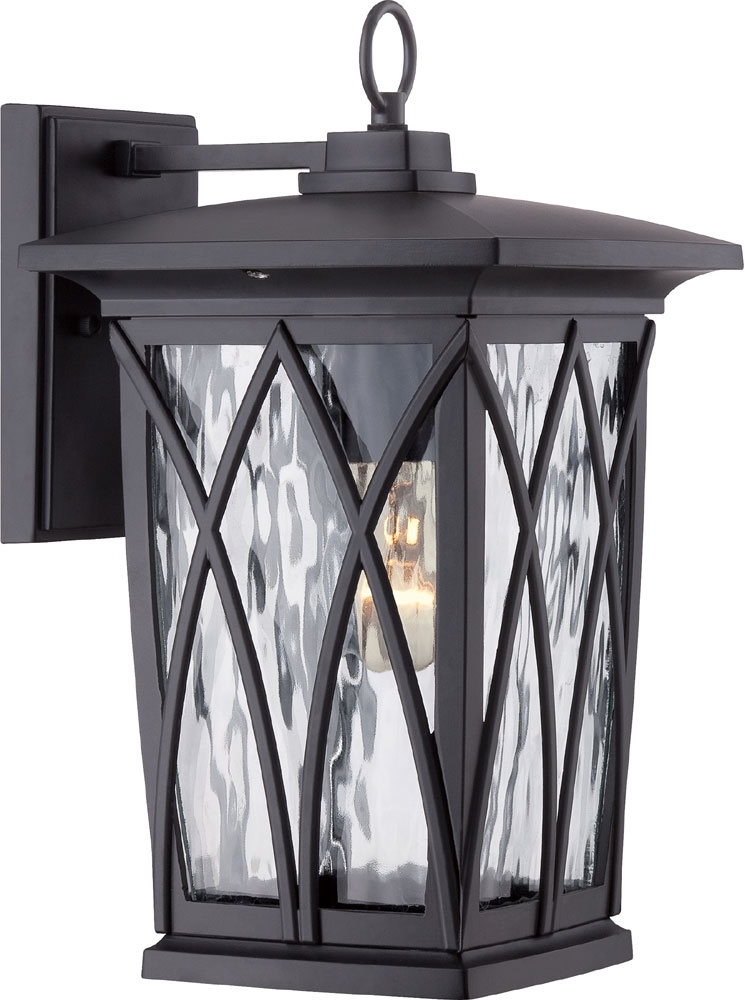 Quoizel Gvr8408K Grover Traditional Mystic Black Outdoor Wall Light inside Quoizel Outdoor Wall Lighting (Image 5 of 10)