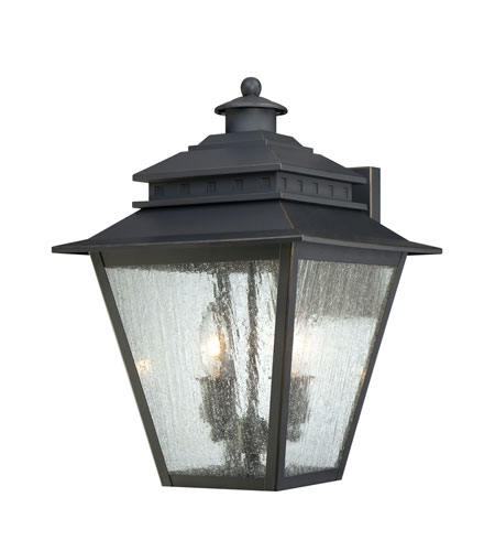 Quoizel Lighting Carson 2 Light Outdoor Wall Lantern In Weathered in Quoizel Outdoor Wall Lighting (Image 8 of 10)