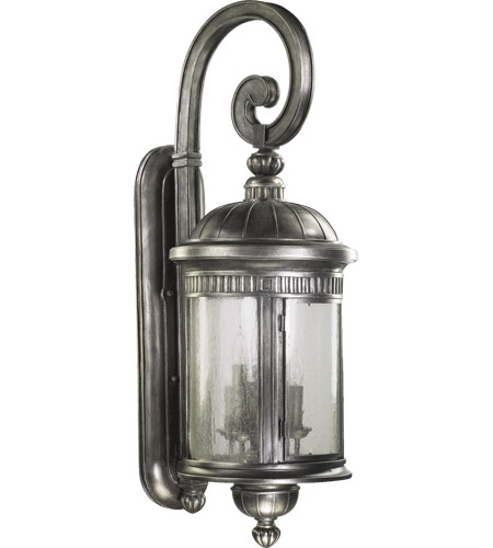 Quorum International Presidio 6 Light Outdoor Wall Lantern In Silver With Regard To Silver Outdoor Wall Lights (View 10 of 10)