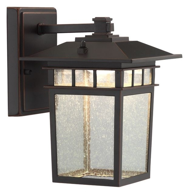 Raiden 1-Light Outdoor Wall Light, Dark Bronze - Craftsman - Outdoor within Craftsman Outdoor Wall Lighting (Image 9 of 10)
