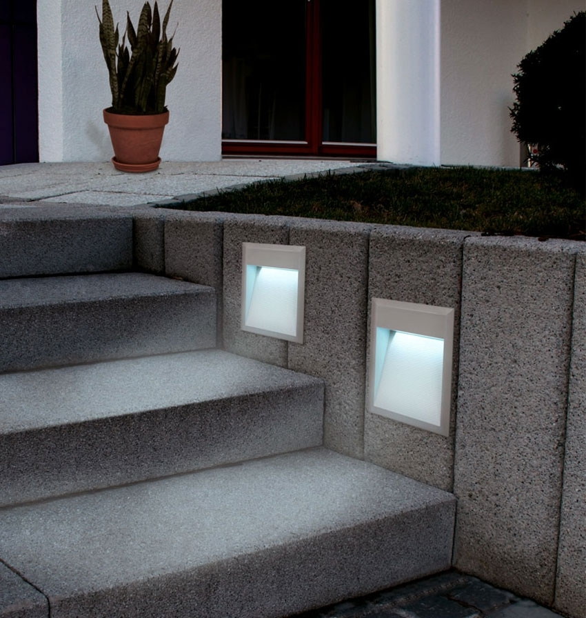 Recessed Lighting: Awesome Recessed Garden Wall Lights Decoration throughout Recessed Outdoor Wall Lighting (Image 2 of 10)
