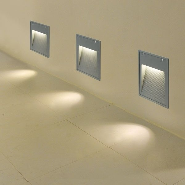 Recessed Wall Light Fixture / Compact Fluorescent / Square / Outdoor pertaining to Recessed Outdoor Wall Lighting (Image 3 of 10)