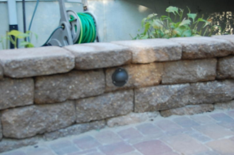 Retaining Wall Lights Low Voltage Breathtaking Landscape Lighting within Outdoor Block Wall Lighting (Image 9 of 10)