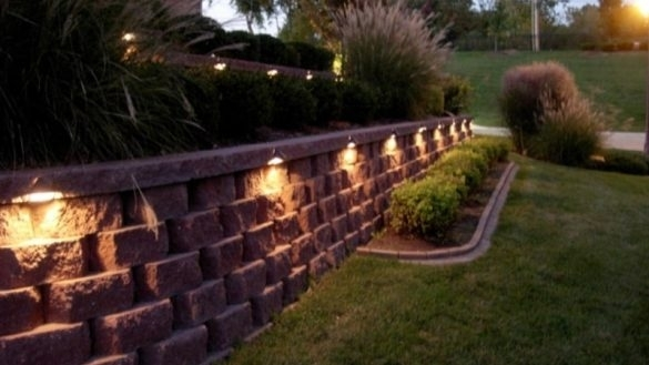 Retaining Wall Lights Regarding House Furniture | Staceyalickman intended for Outdoor Wall Accent Lighting (Image 9 of 10)