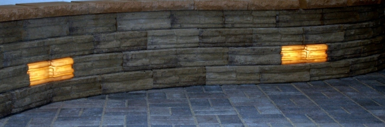 Retaining Wall Lights Tri North Lighitng Inc With Regard To inside Outdoor Stone Wall Lighting (Image 8 of 10)